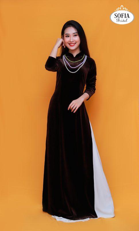 áo dài bà xui sang trọng quý phái