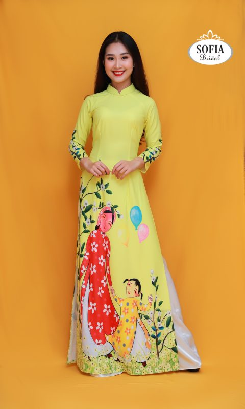 Áo dài truyền thống mang đậm bản sắc và văn hoá Việt Nam.