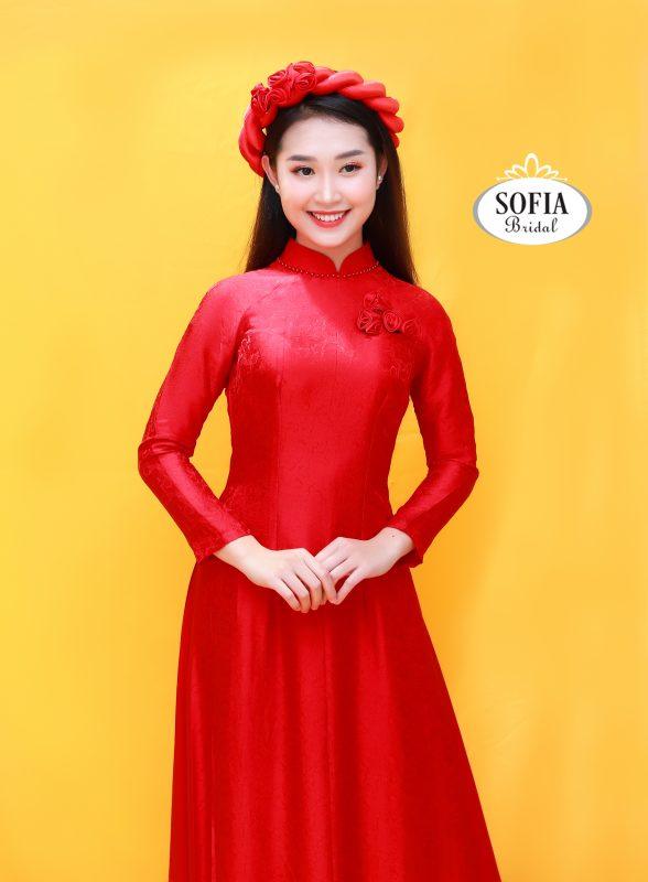 áo dài cô dâu ấn tượng nhất - Phong Cách Hiện Đại, Tinh Tế