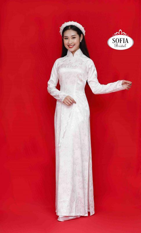 Áo dài cưới màu trắng - Phong Cách Hiện Đại - Thiết kế lạ mắt