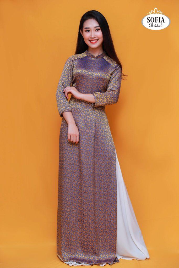 Áo dài quý bà sang trọng - Phong Cách hiện đại ,Tinh Tế