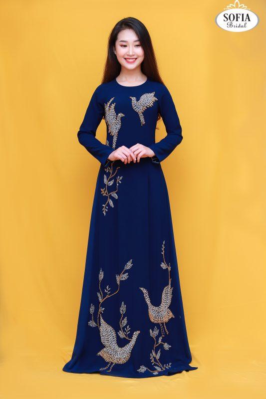 Áo dài quý bà thiết kế Tinh Tế