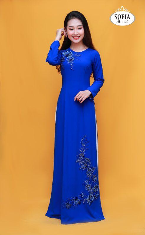 Áo dài quý bà Thiết kế độc đáo    - Phong cách hiện đại