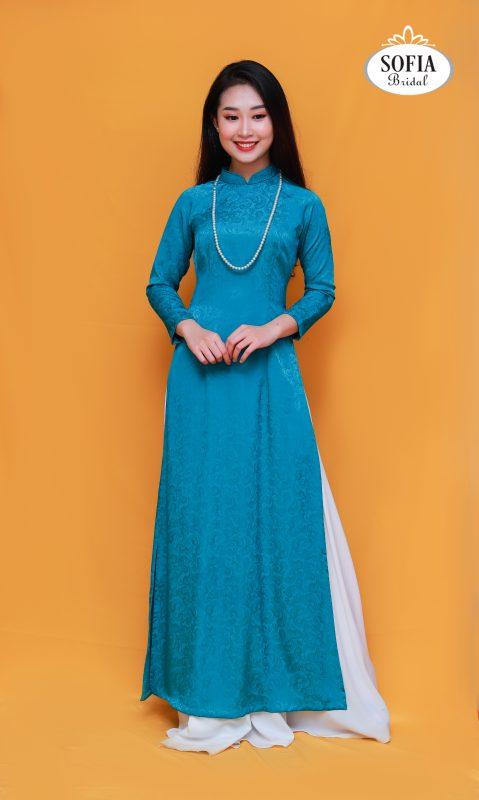 Áo dài quý bà sang trọng quý phái - Phong cách hiện đại