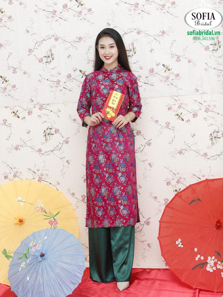 Áo dài cách tân đẹp - Đa dạng về màu sắc, mẫu mã, kiểu dáng SOFIA BRIDAL xứng đáng là địa chỉ bán áo dài đẹp tại Hà Nội - Hotline 0936343596