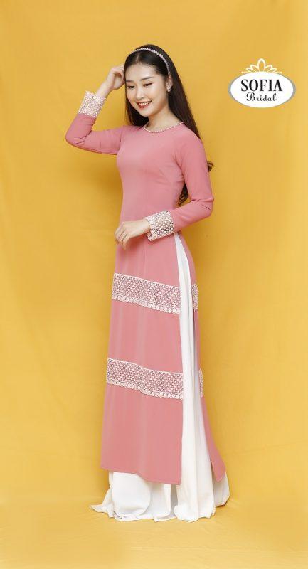 áo dài cưới màu tím - Phong Cách Hiện Đại, Trẻ trung