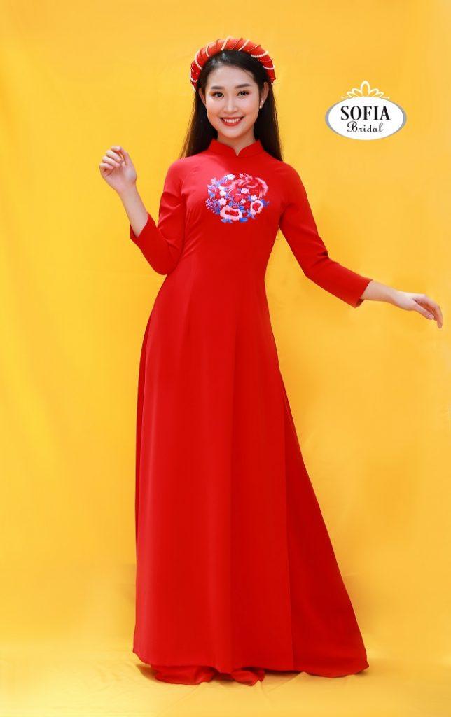 Áo dài cô dâu sang trọng đẳng cấp, thuê áo dài cưới, bán áo dài cưới