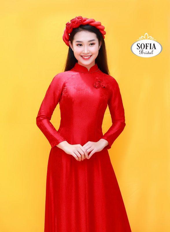 Áo dài cô dâu màu đỏ - Phong Cách Hiện Đại – Tinh tế