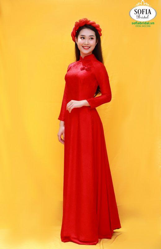 Áo dài ăn hỏi Cô Dâu -  Phong Cách Hiện Đại, Tinh Tế.