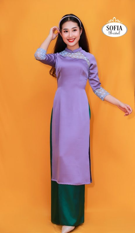 áo dài màu tím-màu sắc của sự thủy chung