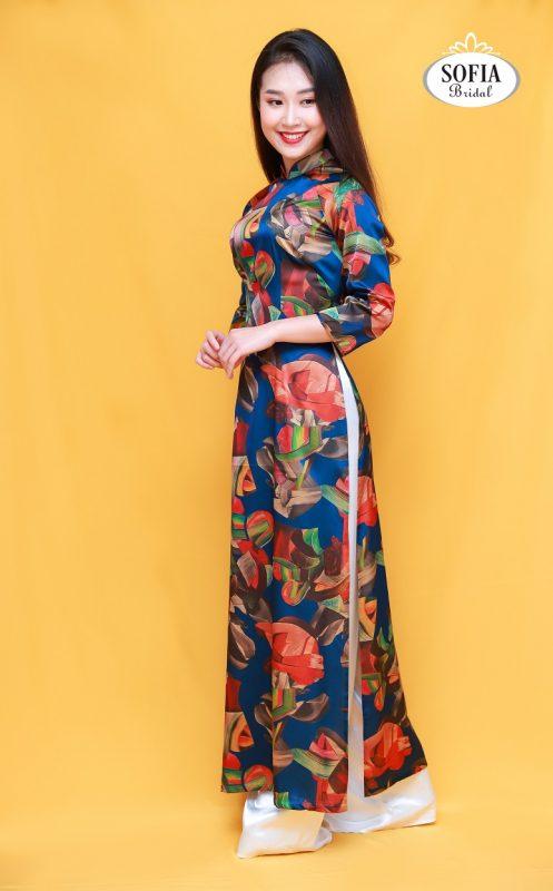 Áo dài quý cô Hà Thành sang trọng quý phái