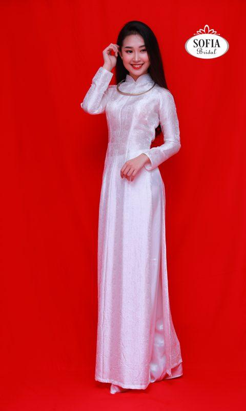 Áo dài cưới cô dâu Thiết kế lạ mắt ít đụng hàng