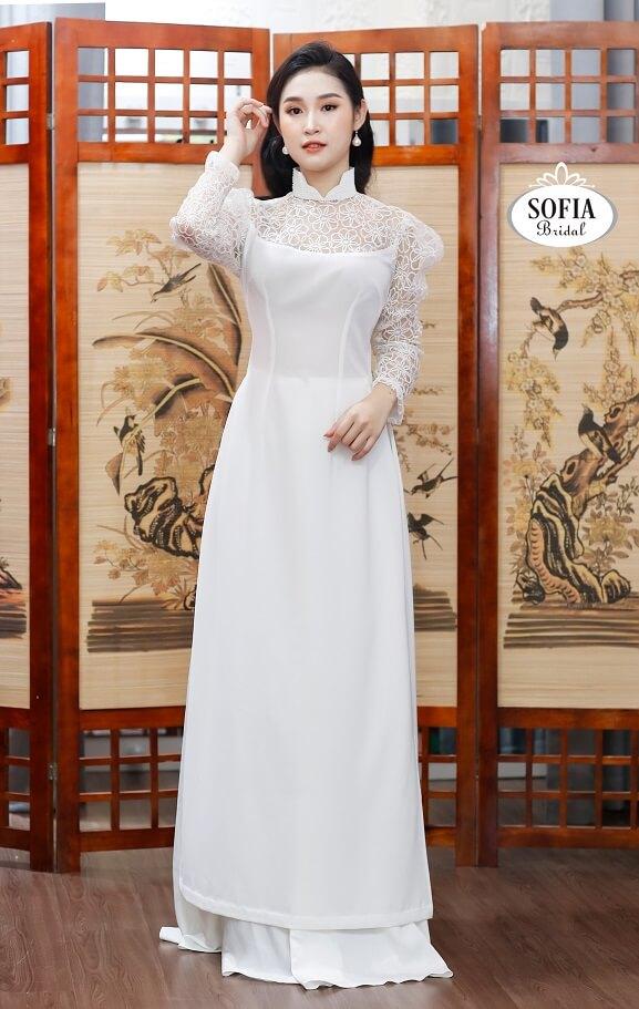 Áo dài Sofia Bridal với các dòng sản phẩm: Áo dài cưới, Áo dài quý bà, áo dài truyền thống, áo dài dự tiệc, áo dài dạo phố