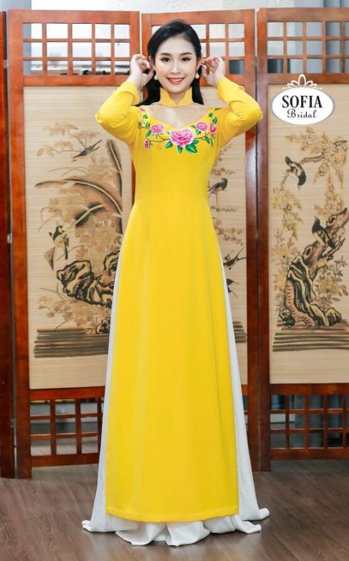Áo dài sự kiên Sofia Bridal hiện đại, trẻ trung Thiết kế Tinh Tế