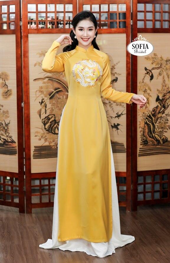 vải may áo dài SOFIA BRIDAL là thương hiệu chuyên về áo dài cung cấp vải thời trang áo dài là mang đậm bản sắc văn hoá Việt Nam - Hotline 0936343596.