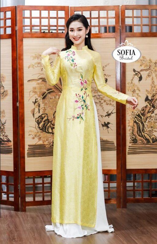 Áo dài cưới đẹp , áo dài cô dâu Phong cách hiện đại sang trọng