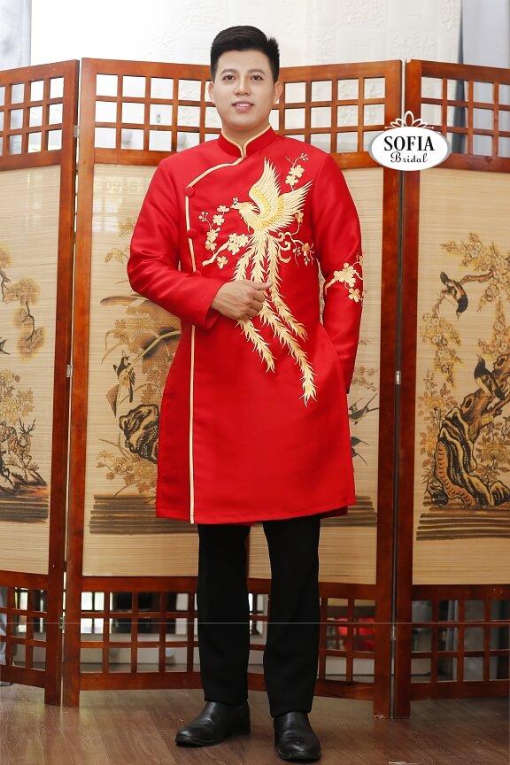 Áo dài chú rể sofia – Áo dài cô dâu, áo dài bà xui - Phong Cách hiện đại Thiết kế tinh tế - Dịch vụ chuyên nghiệp - xu hướng mới - Hotline 0936343596