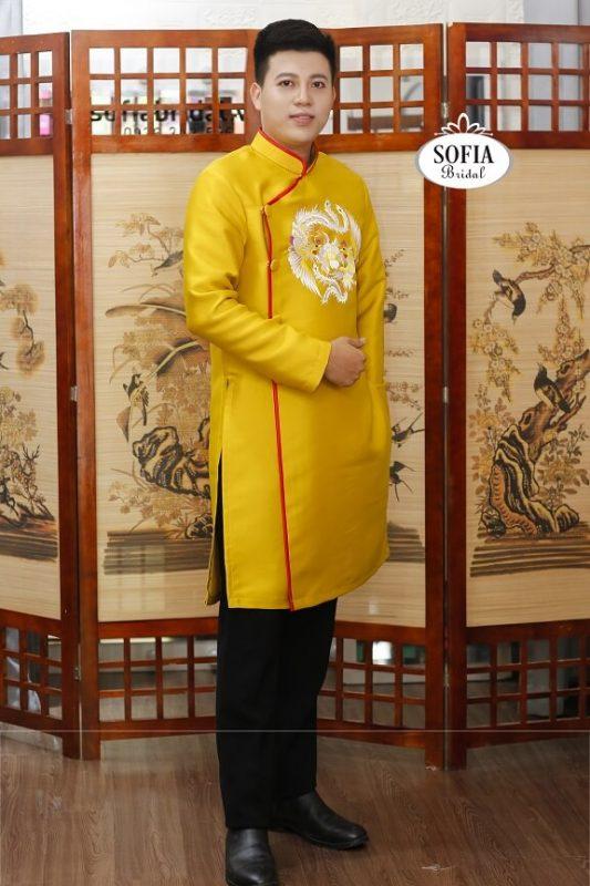 Áo dài Nam, áo dài chú rể - Phong cách hiện đại sang trọng