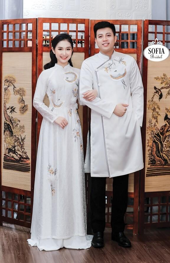 Áo dài ăn hỏi đẹp cho cô dâu Phong cách hiện đại sang trọng