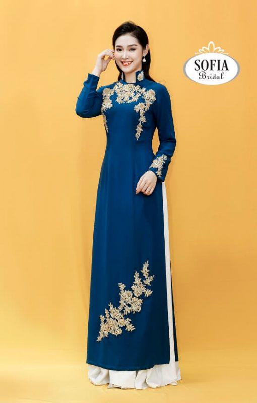 Kiểu áo dài đẹp Sofia Bridal Phong cách hiện đại sang trọng.