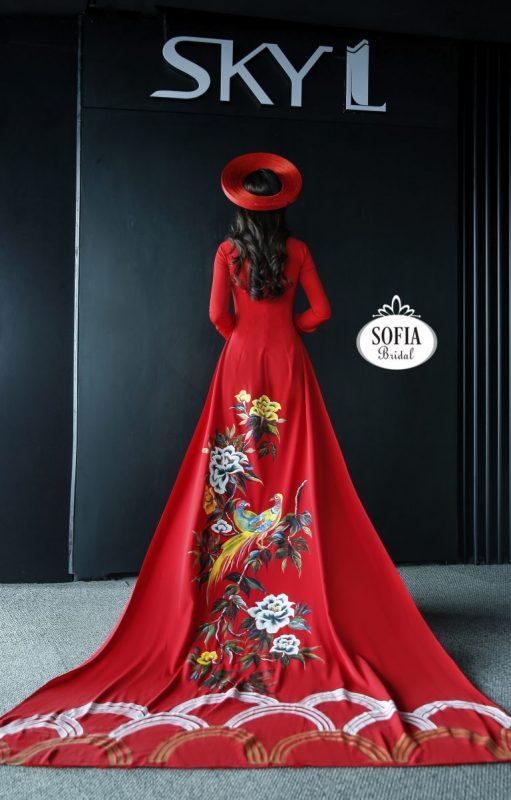 các mẫu áo dài cưới